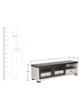 Mizuki Entertainment Unit with Sliding Doors in Emboss White Finish by Mintwud