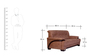 Molding Two Seater Sofa in Cappuccino Finish by Maruti Furniture