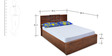Monalisa King Bed in Walnut & Caramel Colour by @home