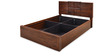 Monalisa Queen Bed in Walnut & Caramel Colour by @home