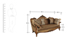 Monarch Three Seater Sofa in Brown Colour by HomeTown