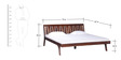 Kelso King Size Bed in Light Brown Finish by Woodsworth