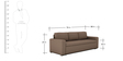 Morris Three Seater Sofa cum Bed in Brown Colour by ARRA