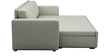 Morris Three Seater Sofa cum Bed in Pearl White Colour by ARRA