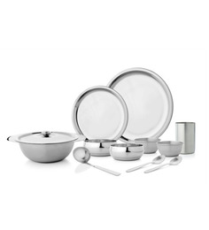 Mosaic Deluxe Stainless Steel 51 Pcs Dinner Set