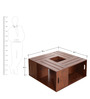 Modern Coffee Table in Brown Color by Afydecor