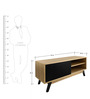 Modern Scandinavian Entertainment Unit in Honey Color by Afydecor