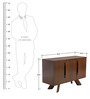 Modern Sideboard with K shaped Wooden Blades in Brown Colour by Afydecor