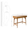 Modern Study Table in Natural Color by Afydecor