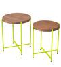 Pagosa Set Of Tables in Acacia Finish by Bohemiana