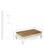 Mong Coffee Table in Natural & White Finish by Tezerac