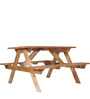 Polson Jardin 4 Seater Picnic Table in Natural Mango Wood Finish by Woodsworth