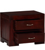 Dover Bed Side Table in Passion Mahogany Finish by Woodsworth