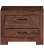 Dover Solid Wood Bed Side Table in Provincial Teak Finish by Woodsworth
