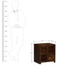 Richmond Solid Wood Bedside Table in Provincial Teak Finish by Woodsworth