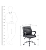 Moore Ergonomic Chair in Black Colour by Oblique
