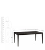 Morgan Six Seater Dining Table in Black Colour by Asian Arts