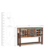 Azealia Cabinet cum Console Table in Distress Finish by Bohemiana