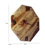 Morila Handmade Wall Clock in Brown by Bohemiana