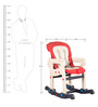 Multi-Purpose Adjustable Baby Chair-Table Set in Red Colour by Child Space