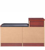 Multipurpose Storage Cabinet with Three Drawers in Walnut Finish by Pindia
