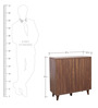 Murano Two Door Multipurpose Cabinet in Wenge Colour by HomeTown