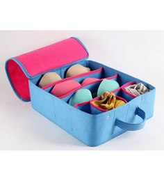 My Gift Booth Felt Pink & Blue Lingerie Clothes Organiser