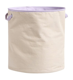 My Gift Booth Mauve Canvas Laundry Hamper
