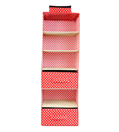 My Gift Booth Red Cotton Wardrobe Organizer