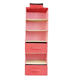 My Gift Booth Red Cotton Wardrobe Organizer