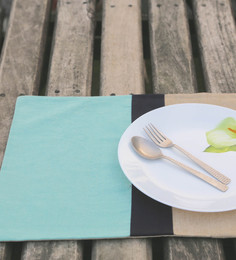 My Gift Booth Stripe Multicolour Linen Placemats - Set Of 6 - 1581319