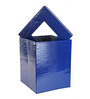 My Gift Booth Crocodile Faux Leather 20 L Navy Blue Laundry Hamper