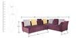 Naples RHS Corner Sofa Set in Purple Colour by Furnitech
