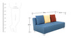 Naples Two Seater Sofa Without Arms in Blue Colour by Furnitech