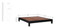 Nashville King Size Bed in Espresso Walnut Finish by Woodsworth