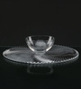 Nachtmann Swirl Pattern Glass 120 ML Chip and Dip Platter