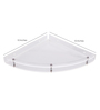 Navrang Transperent Clear Acrylic Big Corner Shelf