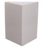 Navrang White Acrylic Corner Wall Cabinet