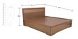 Nebula Queen Bed with Half Hydraulic Storage by HomeTown