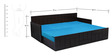 Nelson Sofa cum Bed with Four Pillows in Sky Blue Colour by Auspicious