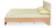 Neo Emily Queen Size Bed with Mattress in Ivory & Teak Finish by @home