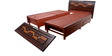 New Rado Queen Bed with storage in Brown colour by Looking Good Furniture