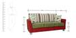 New Windsor Three Seater Sofa in Red Colour by Furnitech