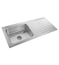 Neelkanth Pace Maker Matt Stainless Steel Single Bowl Kitchen Sink With Drainer