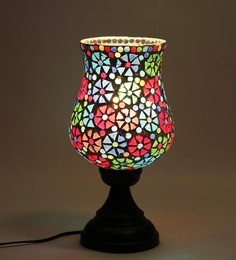 New Era Exemplary Multicolour Glass Table Lamp