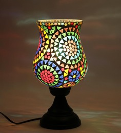 New Era Exemplary Multicolour Glass Floor Lamp