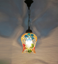 New Era Multicolour Metal 40W 7 X 4.5 X 21 Inch Hanging Lamp - 1454946