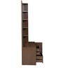 Nebula New Dresser with Mirror in Coffee Brown Colour by HomeTown