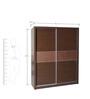 Nebula Sliding Two Door Wardrobe in Dark Brown Colour by HomeTown