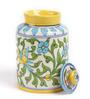 Neerja Blue Ceramic Floral Jar
